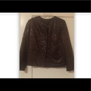 Lafayette 148 New York Faux Leather Jacket